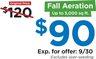 Fall Aeration for $90